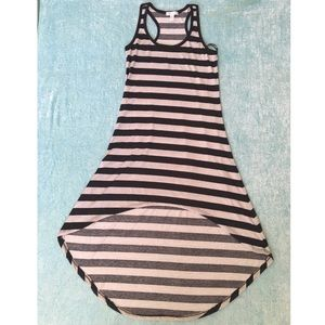 Stripe High low Dress